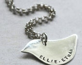 Momma Bird Necklace - sterling silver and customizable with kids names