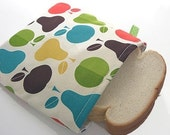 Apple 'n Pear Sandwich Bag - Reusable, Fun, Eco-Friendly,  BPA FREE
