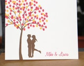 FALL-ing in Love Personalized Folded Note Cards
