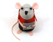 Cody the Computer Geek Mouse - cute felt mouse ornament by TheHouseofMouse