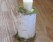 Rustic Birch Branch Wedding Candle Centerpiece