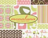 Organic Cotton Fabric, Monaco in Pink, by Monaluna, half yard Set