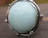 Bramble Ring - YOUR SIZE ..... powder blue amazonite ring