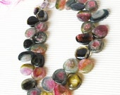 1/2 Strand Incredible Watermelon Tourmaline Transparent Smooth and Polished Slices-REDUCED FROM 39.90