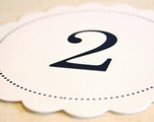 15 Scallop Circle Table Numbers