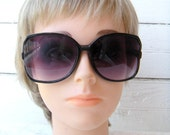 Vintage Oversized Black Sunglasses
