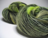 Hand Dyed and Carded Over 4 Ounce Smooth Fiber Batt Set with Alpaca, Merino and More in Margaritas at Midnight