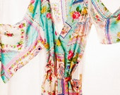 Bridesmaid Set of Two Knee Length Robes. Silk Road Sweet.