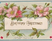 Vintage Birthday Post Card Early 1900s bd052