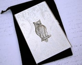 Owl Business Card Holder - Silver Plated Metal - Slim Vintage Style Victorian Design - Exclusive Original Design by Cosmic Firelfy