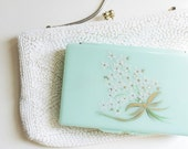Sweet Vintage Mint Green Mirror Compact