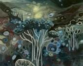 Moonlight and Zebra Fine Art Print
