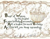 Vintage Birthday Post Card Early 1900s bd066