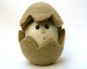 Egg - Wool Needle Felted Toy.