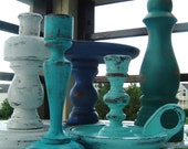 Seaside Shore Wooden Candlestick Collection