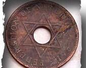 Nigerian Half Penny Focal Point Piece Circa 1959