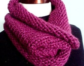 ON SALE Chunky Cowl in Plum - FREE US SHIPPING