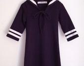 DRESS DAYLIE JERSEY, Navy Blue Jersey Sailor Dress