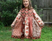 Hooded Fall Folk Dress