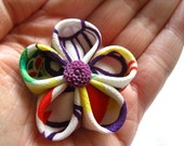 Bright Mix - Fabric Flower Brooch Pin