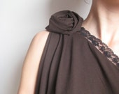 espresso damask with lace