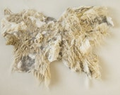 Felted rug / throw / wall hanging - textile art - Wondrous creature. Ice age. OOAK