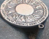 Libra - Vintage Astrology Pendant - Silver