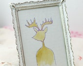 Hand painted deer silhouette