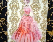 Veronica Card / Vintage Printed Collection / 50s Glamour Girl / Handmade Greeting Card