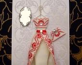 Ruby Personalised Dress Card / Handmade Greeting Card