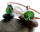 SEA GRASS AVE. Genuine Sea Glass Bracelet by Lake Erie Beach Glass LEbg
