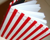 Red and White Striped Journal