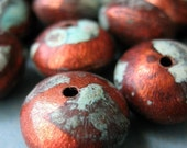 Water and Wood Beads - Patinated Copper Beads