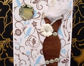 SALE Cocoa Personalised Dress Card / Handmade Greeting Card