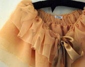Perfectly Peach,,floaty chiffon Vintage-esq capelet simply divine..