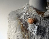OOAK stunning open knit wedding coat perfect for a fall or Winter wedding..