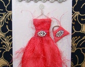 Belle of the Ball  Personalised Dress Card / Handmade Greeting Card