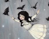 Taken by bats.. a giclee print