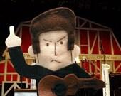 Johnny Cash Finger Puppet