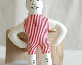 Iz'o The Strong Man - Handmade Fabric Doll