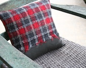 Jermyn Street London - Red Plaid / Pinstripe PILLOW COVER
