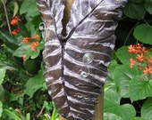 WILD SIDE-  Elephant Ear Leaf Sculpture - with Metal Accents