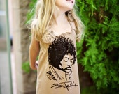 The UPCycled T Shirt Dress ROCK AND ROLL NO. 3 One Size Fits 2T - 6
