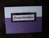 Handmade Congratulations greeting card
