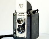 Vintage Argus Seventy Five twin lens camera with portrait lens and leather case