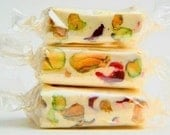 French Nougat - SAMPLER of 8 Flavors - Almond and Pistachio Nougats in Vanilla, Chocolate, Strawberry, Cherry, Green Tea, Coffee, Pistachio, Pistachio-Cranberry