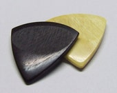 Exotic Wood Handcrafted Premium Guitar Pick Combo  (Texas Ebony)