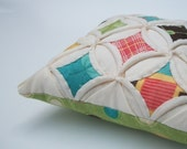 Frolic Miniature Cathedral Window Pillow Pincushion - 5 Inches Square
