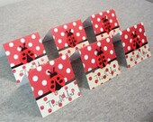 Ladybugs and Polka Dots Mini Thank You Cards 2x2 (6)