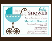 Baby Carriage Collection Invitations